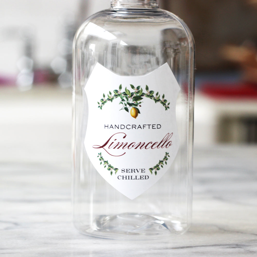 Limoncello Labels - Garland Design SHIELD