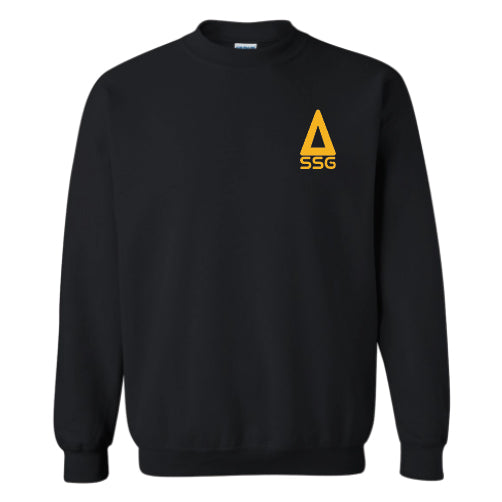 Crew Sweatshirt - Black/Gold Triangle SSG Pocket