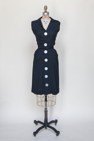 1960s black day dress from Dalena Vintage