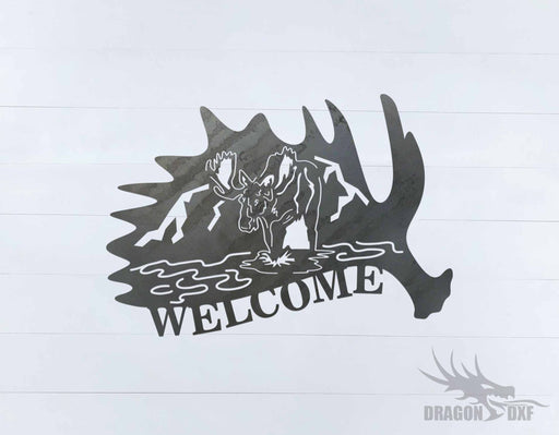 Canadian Welcome Sign 14 - DXF Download