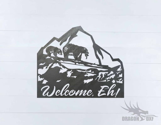Canadian Welcome Sign 16 - DXF Download