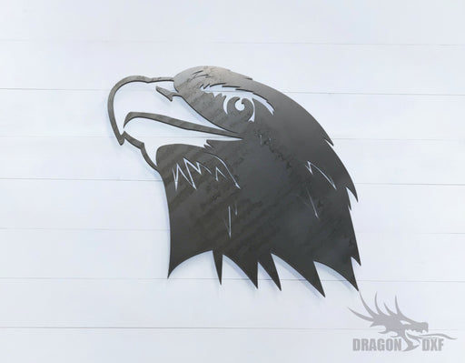 Eagle facing left upward - Zoo Animals -  DXF Download