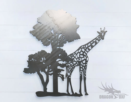 Safari Giraffe - Zoo Animals -  DXF Download