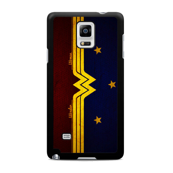 Wonder Woman Red Blue Logo Samsung Galaxy Note 4 Case
