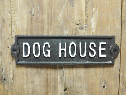 Cast Iron Sign 'Dog House'
