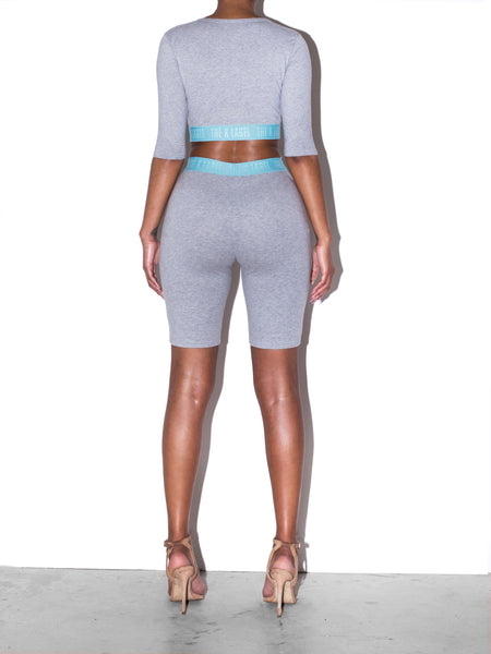 "KUFF ""BasiK"" Logo Co-ord in Grey Marl"