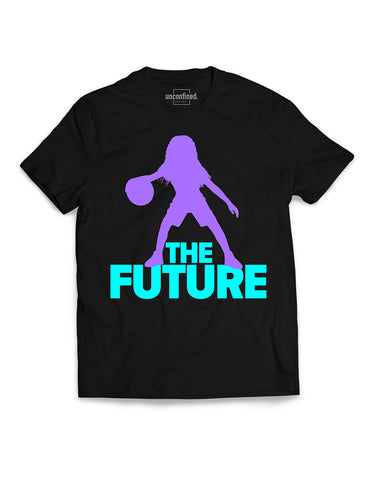 Youth Performance Tee - Black/Purple/Aqua