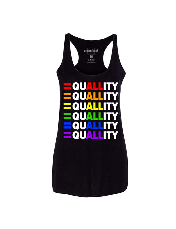 PRIDE Equality Racerback Tank - Unconfined. Apparel