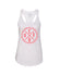 Performance Tank - White/Coral - Unconfined. Apparel