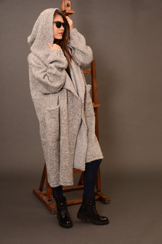 Wool oversized coat cardigan | Danellys ღ,Coat- Flamingolandia.online