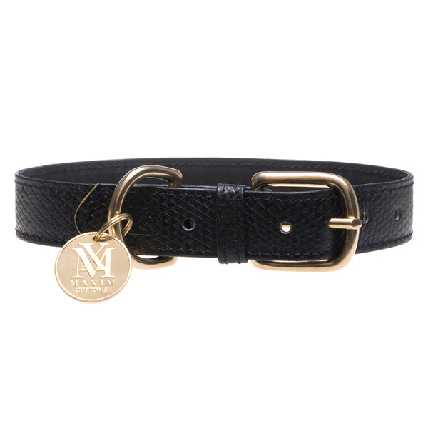 Luxury dog collar with pet ID