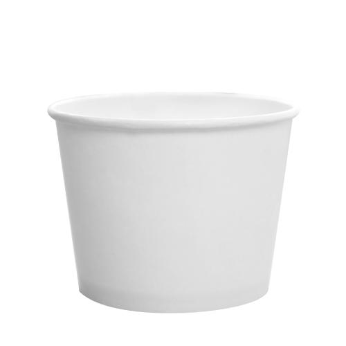 12 oz Paper Food Containers - White - 1,000 ct - 100mm-To-Go Packaging-Karat-No Lids-Carry Out Supplies