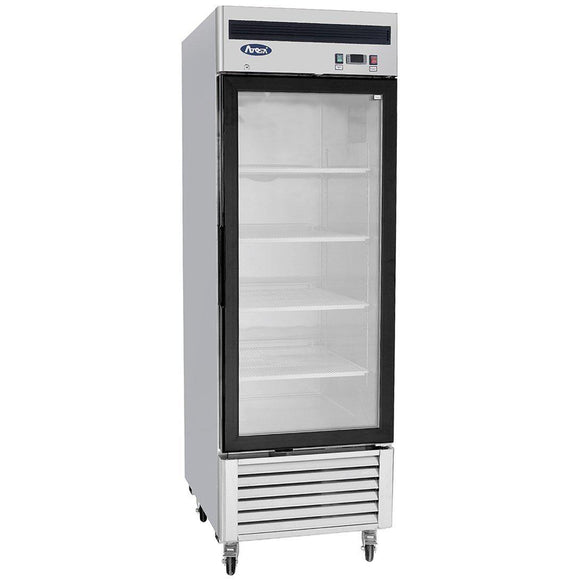 Atosa Bottom Mount One Section Glass Door Reach-In Freezer MCF8701-Refrigeration Units-Karat-Carry Out Supplies