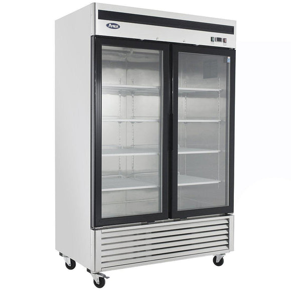 Atosa Bottom Mount Two Section Glass Door Reach-In Freezer MCF8703-Refrigeration Units-Karat-Carry Out Supplies