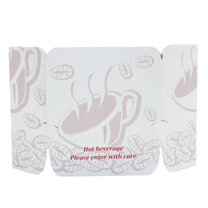 Coffee Sleeves - Tulip Cup Jackets - Ivory - 1,000 ct-Cup Accessories-Karat-Carry Out Supplies