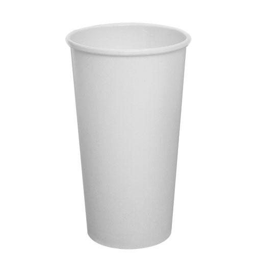 Compostable Coffee Cups - 20oz Eco-Friendly Paper Hot Cups - White (90mm) - 600 ct-Cups & Lids-Karat-Carry Out Supplies