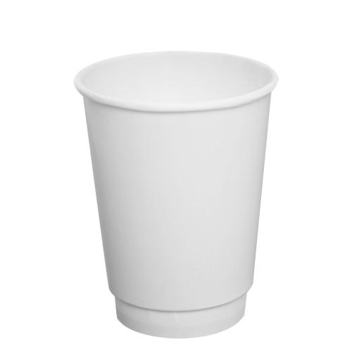 Disposable Coffee Cups - 12oz Insulated Paper Hot Cups - White (90mm) - 500 ct-Cups & Lids-Karat-No Lids-No Sleeves-Carry Out Supplies