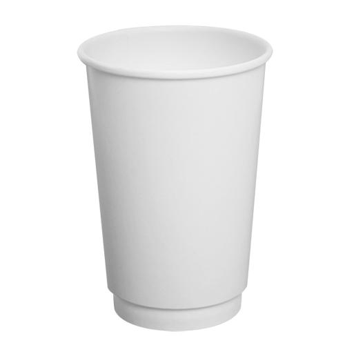 Disposable Coffee Cups - 16oz Insulated Paper Hot Cups - White (90mm) - 500 ct-Cups & Lids-Karat-No Lids-No Sleeves-Carry Out Supplies