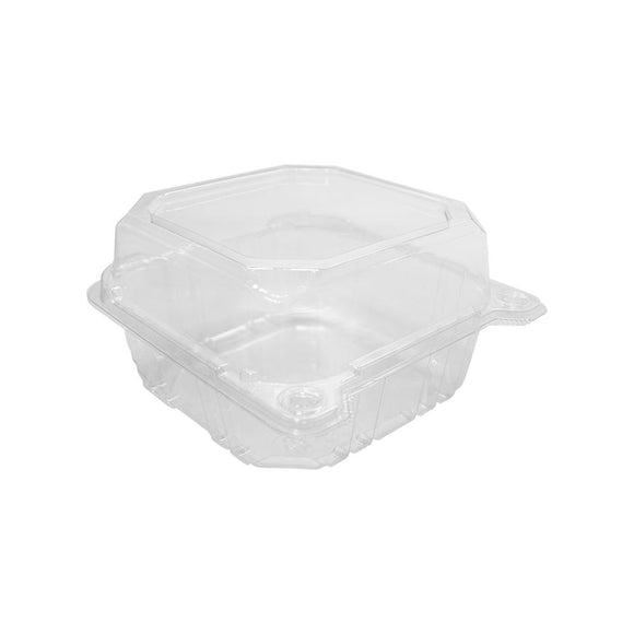Karat 6''x6'' PET Hinged Containers - 500 ct-To-Go Packaging-Karat-Carry Out Supplies
