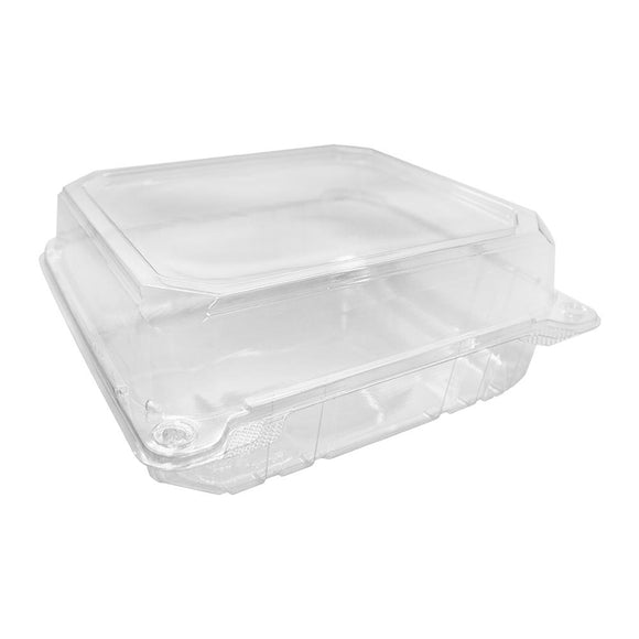 Karat 8''x8'' PET Hinged Containers - 250 ct-To-Go Packaging-Karat-Carry Out Supplies