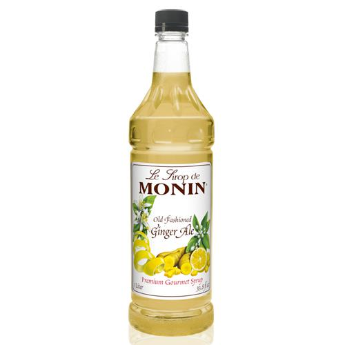 Monin Old Fashion Ginger Ale Syrup Bottle - 1 Liter-Syrups-monin-Carry Out Supplies