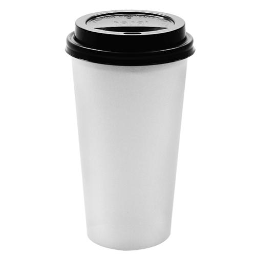 Paper Coffee Cups with Lids - 20 oz with Black Dome SipperLids (90mm)-Cups & Lids-Karat-Carry Out Supplies