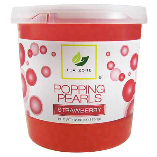 Tea Zone Strawberry Popping Pearls (7 lbs)-Popping Pearls-Tea Zone-Carry Out Supplies