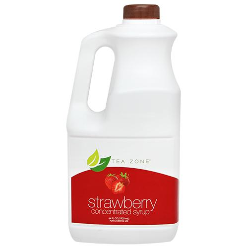 Tea Zone Syrup - TeaZone Strawberry Bottle - 64 oz-Syrups-Tea Zone-Carry Out Supplies