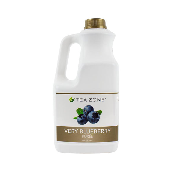 Tea Zone Very Blueberry Puree Bottle - 64 oz-Syrups-Tea Zone-Carry Out Supplies