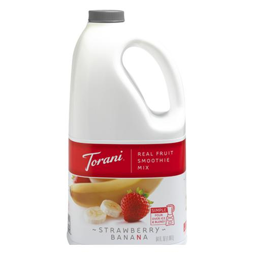 Torani Strawberry Banana Real Fruit Smoothie Mix (64oz)-Liquid Base & Purees-torani-Carry Out Supplies