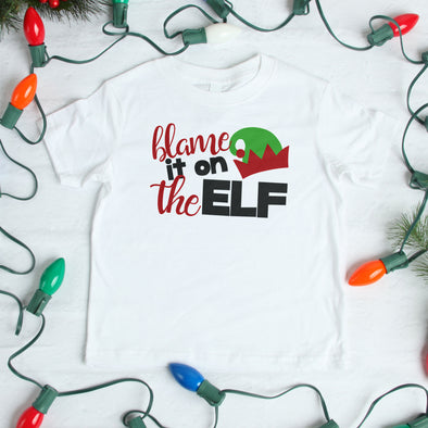 Blame it on the Elf Toddler Graphic Tee - Inspired Hearts Boutique