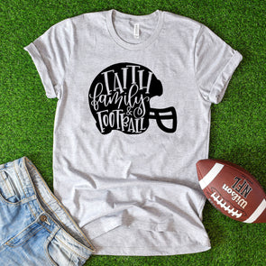 Faith Family Football Tee - Inspired Hearts Boutique