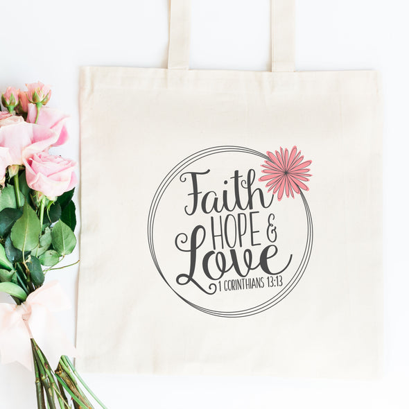 Faith Hope Love Tote Bag - Inspired Hearts Boutique