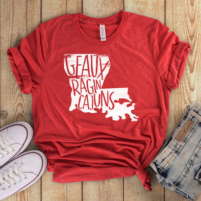 Geaux Ragin Cajuns Red Tee - Inspired Hearts Boutique