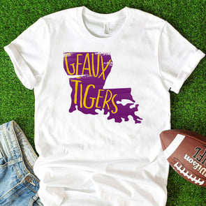 Geaux Tigers Tee - Inspired Hearts Boutique
