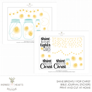 Shine Brightly for Christ Bible Stickers