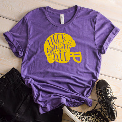 Tiger Football Y'all Helmet Tee - Inspired Hearts Boutique