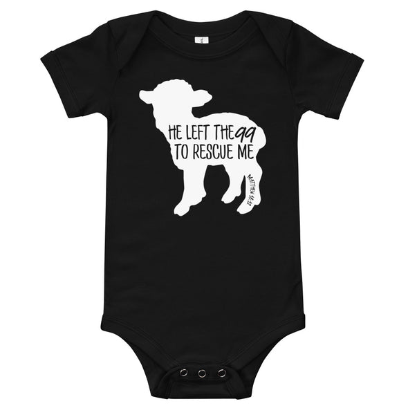 He Left the 99 to Rescue Me Solid Infant Bodysuit - Inspired Hearts Boutique