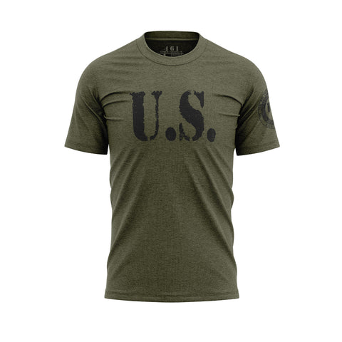 U.S. Vintage Style Men's Military Green T-Shirt 461 Veteran Clothing Co.